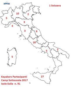 Italia Cartina Regioni Partecipanti Camp