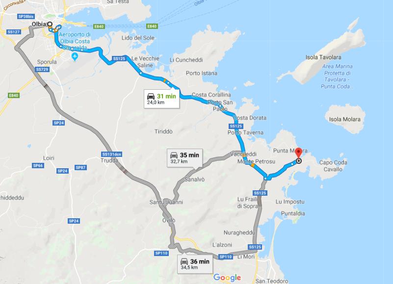 Sardegna Cartina Aeroporti.Cartina Geografica Sottocosta